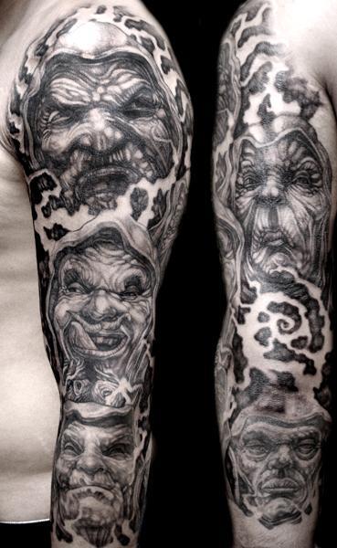 Sleeve tattoo on arm