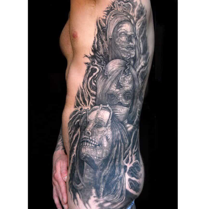 Large tattoo on ribs