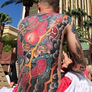 Back-piece Raijin tattoo