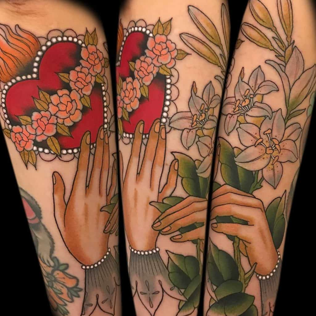 Traditional tattoo on arm