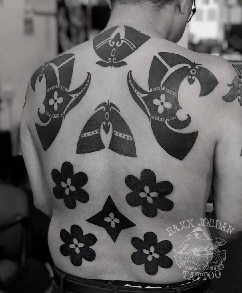 Dayak tattoo on the back