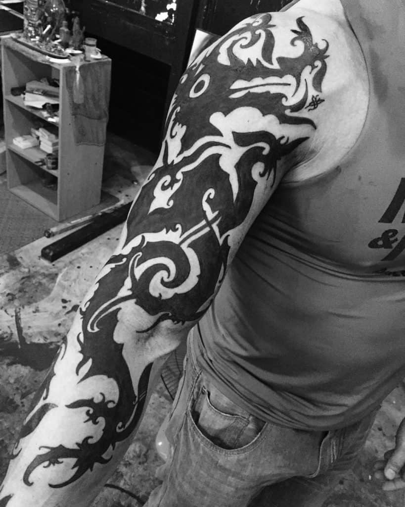 Dayak tattoo on the arm