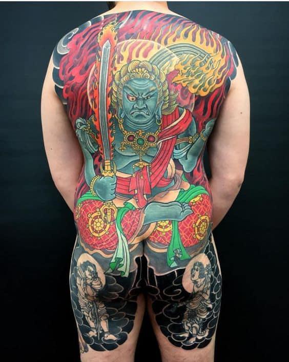 Fudo Myoo tattoo on the the back