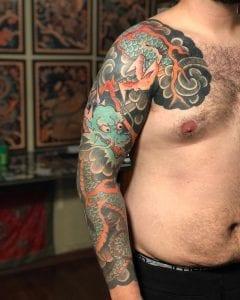 Kirin tattoo on the arm