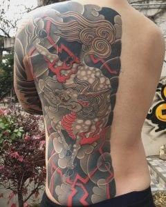 Kirin tattoo on the back