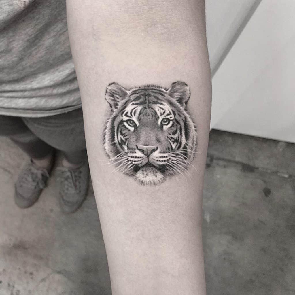 Lazer Liz Tiger Tattoo