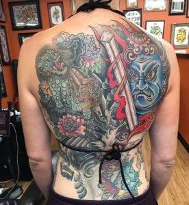 Fudo Myoo tattoo on the back
