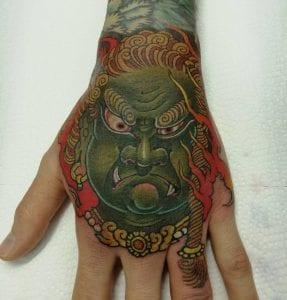 Fudo Myoo tattoo on the hand