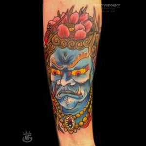 Fudo Myoo tattoo on the forearm