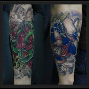 Fujin and Raijin tattoo