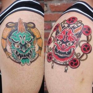 Fujin and Raijin tattoos