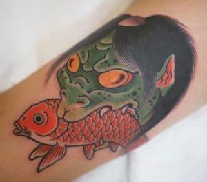 Kappa and Koi fish tattoo