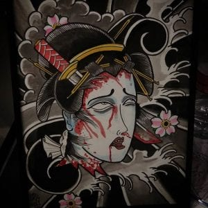 Namakubi tattoo design