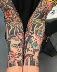Two Namakubi tattoos
