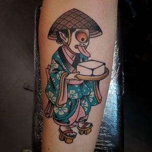 Tofu Boy tattoo on the skin