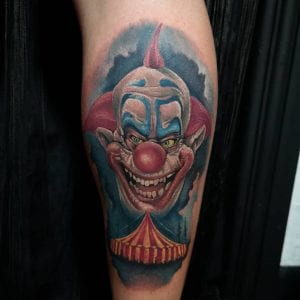 Evil Clown tattoo