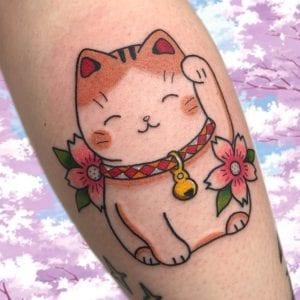 Maneki Neko Tattoo