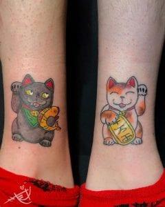 Maneki Neko tattoos
