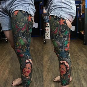 Okame sleeve tattoo