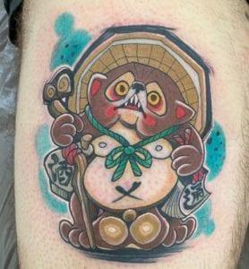 Tanuki tattoo
