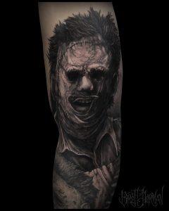 Leatherface tattoo