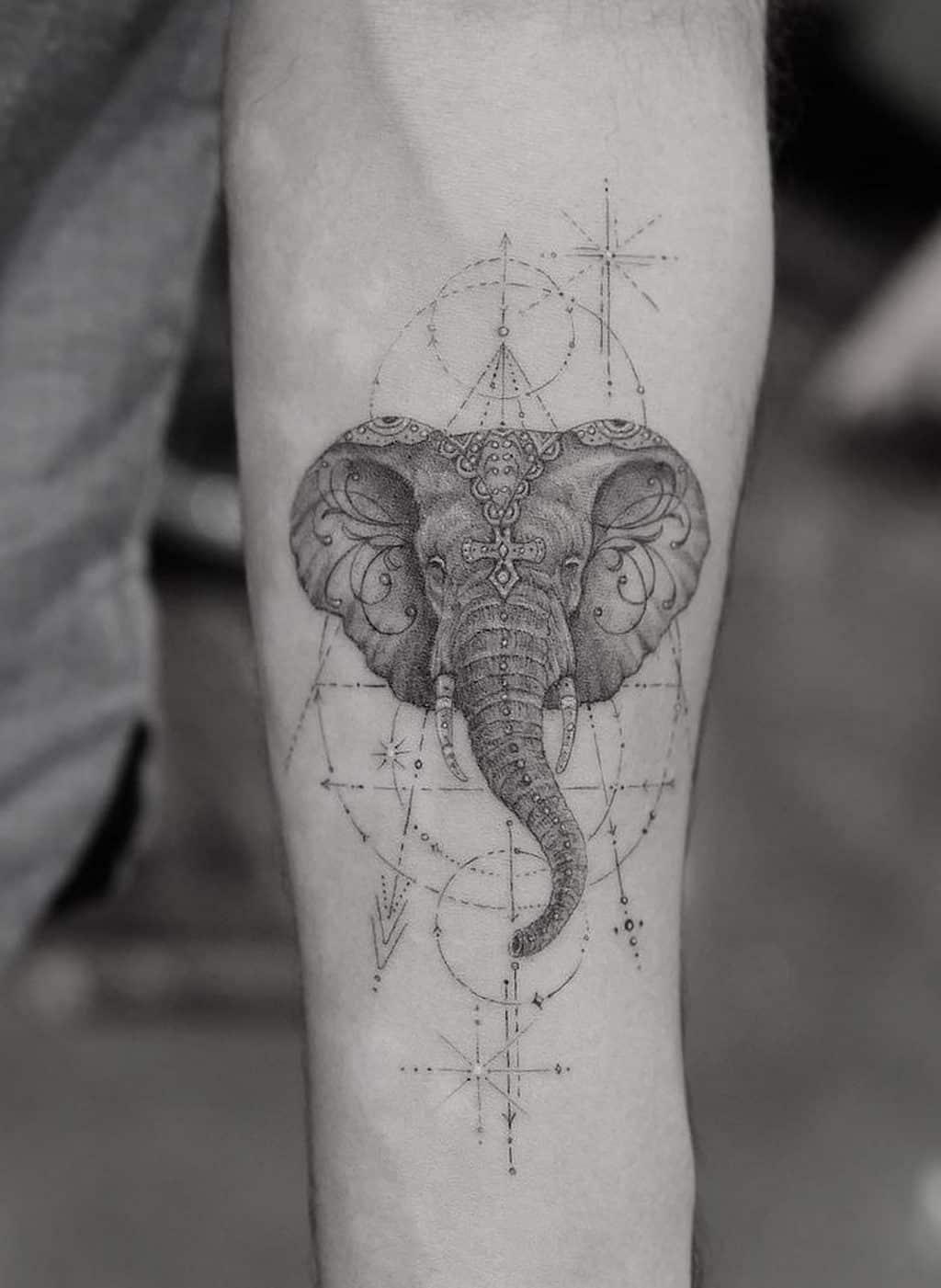 Elephant Head Tattoo