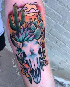 Cow Skull tattoo