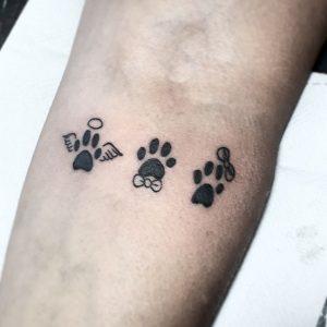 80+ dog paw tattoos: how to get a dog paw tattoo  tattmag