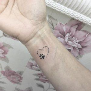 Dog paw tattoo