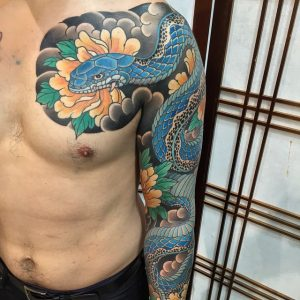 Japanese snake tattoo