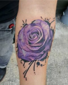 Purple tattoo