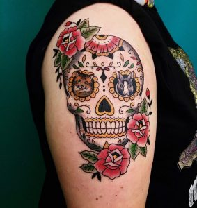 70 Sugar Skull Tattoos Origins Meanings Symbolism 2020 Guide