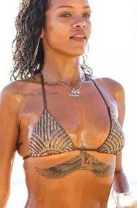 Rihanna's sternum tattoo