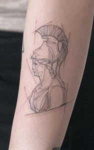 Athena tattoo