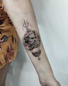 Greek statue tattoo