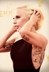 Lady Gaga's lettering tattoo