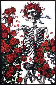 Skull & Roses drawing