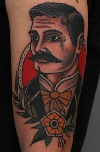 American Traditional Portrait Tattoos