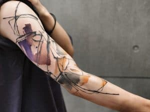 Watercolor Abstract Tattoos
