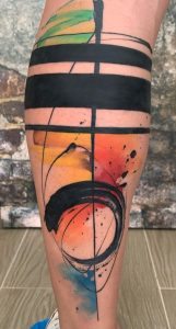 Watercolor Abstract Tattoo