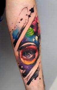 Watercolor Galaxy Tattoos