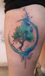 Watercolor Lettering Tattoo