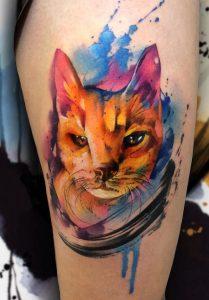Watercolor Pet Tattoo