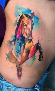 Watercolor Horse Tattoo