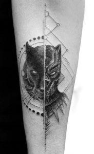 Fine Line Panther Tattoo