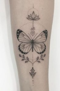 Ornamental Butterfly Tattoo