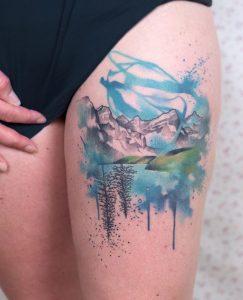 Watercolor Nature Tattoo