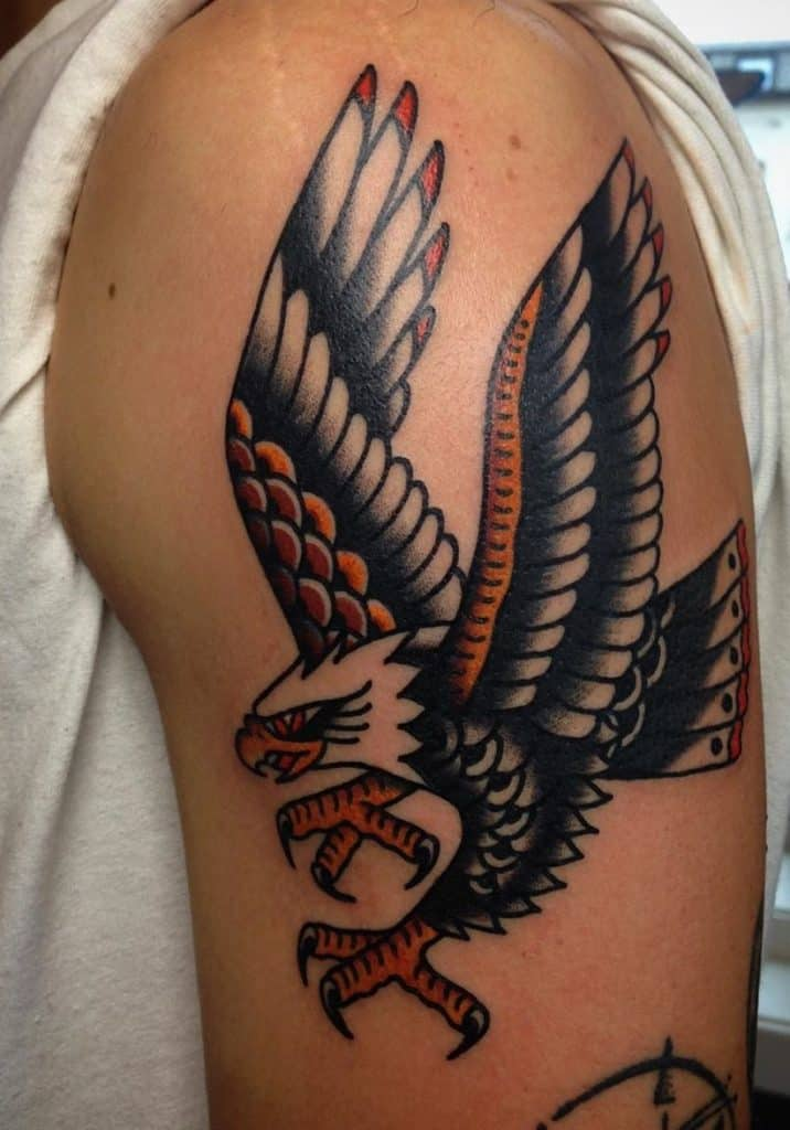 American Traditional Eagle Tattoo