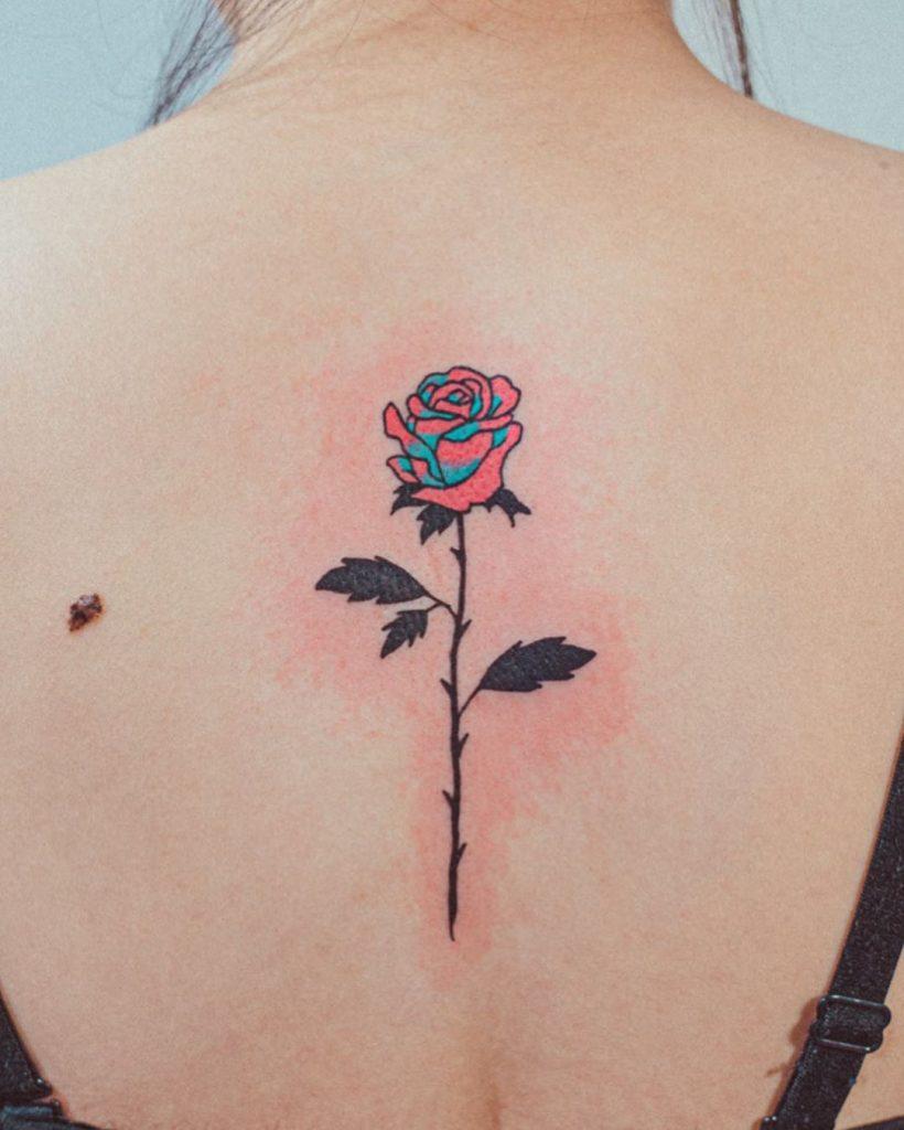 Contemporary Rose Tattoo