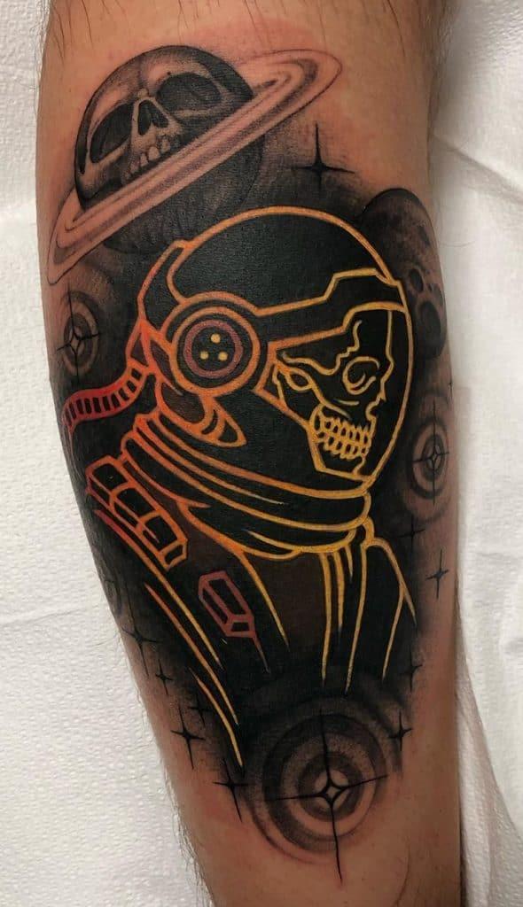 Contemporary Skull Tattoo